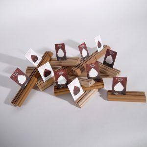 chevalets hêtre merisier porte-cartes l'orée du bois